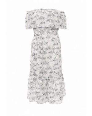 Белое платье с открытыми плечами Tutto Bene