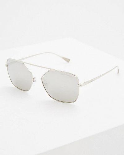 Солнцезащитные очки серебряного цвета Emporio Armani