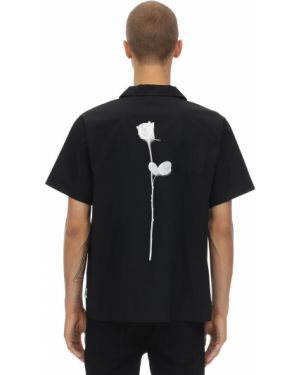 Klasyczna czarna klasyczna koszula krótki rękaw Fact.