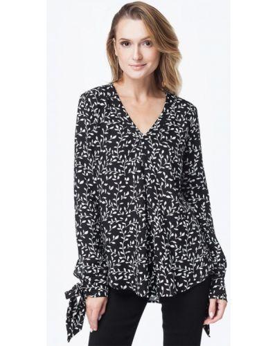 Черная блузка осенняя Vilatte