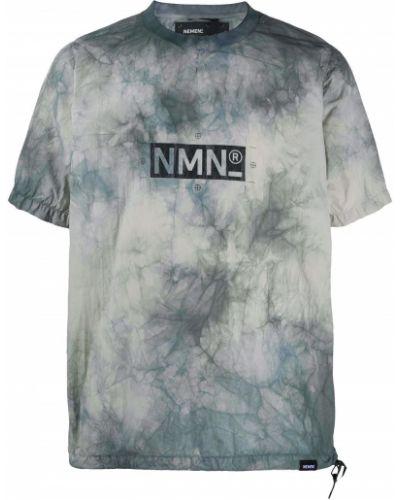 С рукавами серая футболка с круглым вырезом круглая Nemen