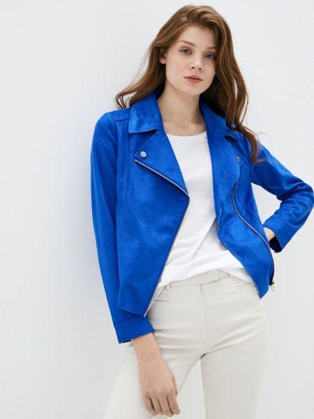 Кожаная куртка весенняя синий S.oliver