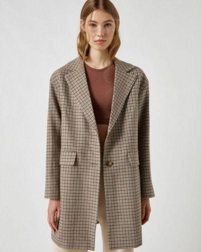 Пальто с медведем - коричневое Pull&bear