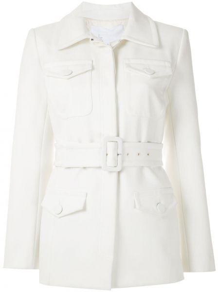 Белое пальто из вискозы стрейч Nk