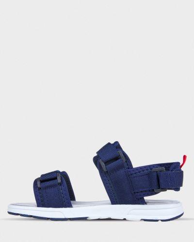 Кожаные сандалии - синие Crosby