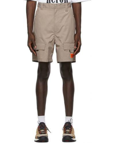 Оранжевые нейлоновые шорты карго с карманами Heron Preston