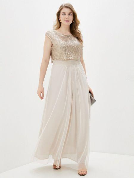 Вечернее платье бежевое весеннее Kitana By Rinascimento