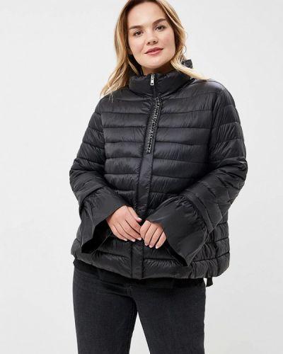 Утепленная куртка демисезонная черная Fiorella Rubino