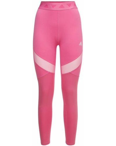 Rajstopy z siateczką - różowe Adidas Performance