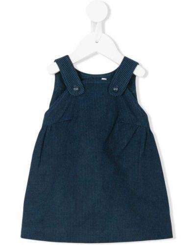 Хлопковое синее платье Knot