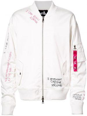 Biała kurtka z nylonu Haculla