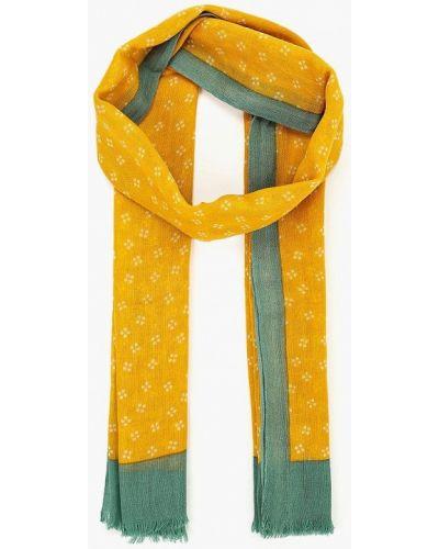 Желтый палантин индийский United Colors Of Benetton