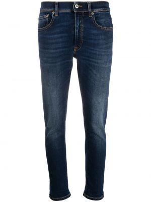 Синие облегающие джинсы-скинни на молнии Dondup