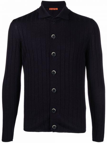 Niebieski klasyczny sweter Barena
