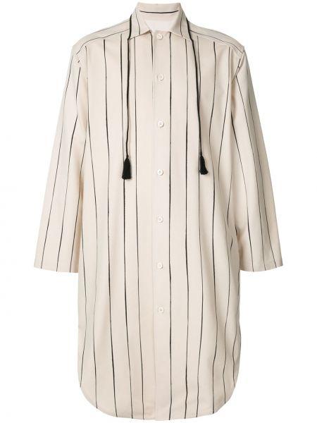 Koszula z długim rękawem klasyczna w paski Jil Sander