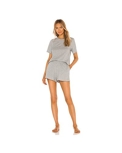Пижамный хлопковый серый купальник на резинке Skin