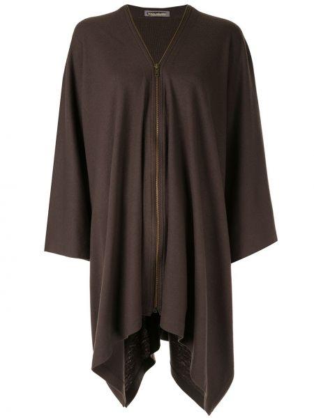 Коричневая свободная куртка свободного кроя на молнии Issey Miyake Pre-owned