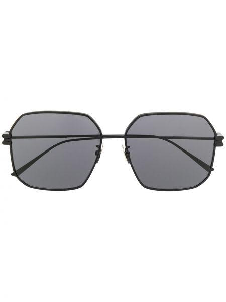 Муслиновые черные солнцезащитные очки квадратные Bottega Veneta Eyewear