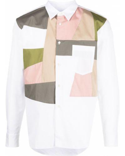 Biała koszula bawełniana z długimi rękawami Comme Des Garcons Homme Deux