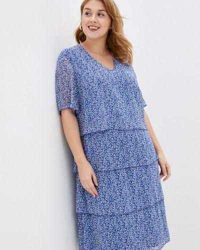 Повседневное синее платье Samoon By Gerry Weber