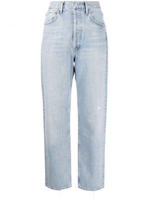 С завышенной талией прямые джинсы классические с карманами Agolde