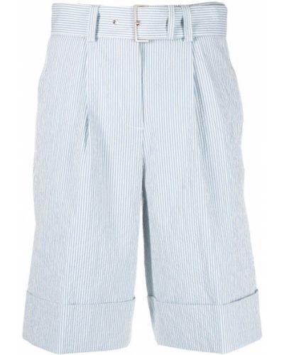 Хлопковые шорты в полоску с поясом Peserico