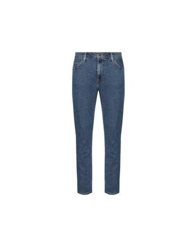 Niebieski bawełna jeansy Lee