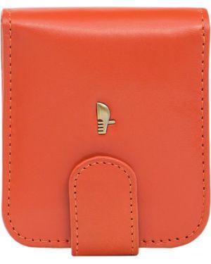 Оранжевый кожаный кошелек Puccini
