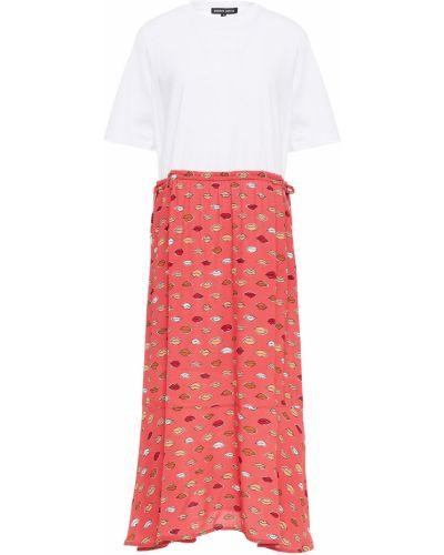 Трикотажное платье миди - белое Markus Lupfer