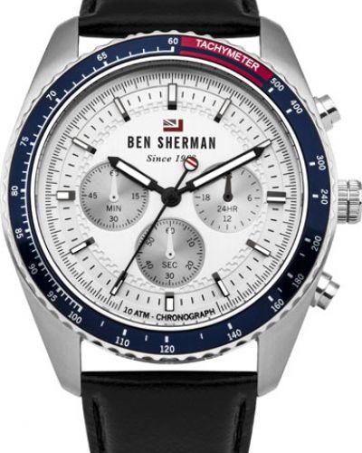 Часы водонепроницаемые с кожаным ремешком Ben Sherman