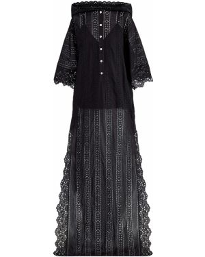 Платье макси с декольте в стиле бохо Elie Saab