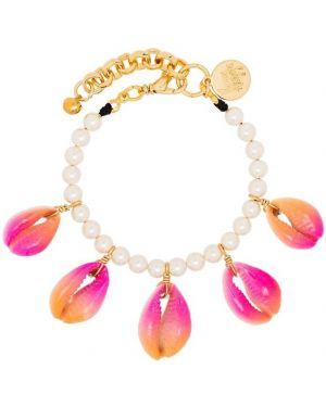 Розовый браслет с камнями Venessa Arizaga