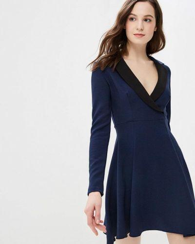 Платье осеннее синее Gepur
