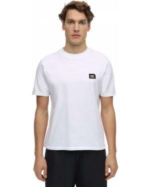 Biały t-shirt bawełniany z haftem Botter