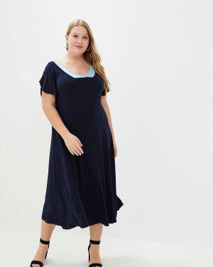 Платье прямое синее Артесса