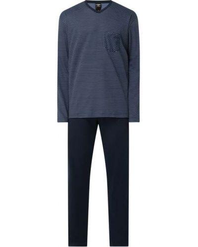 Spodni piżama bawełniana z długimi rękawami w paski Calida