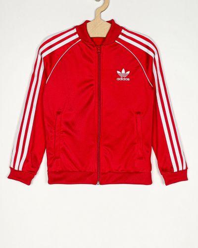 Прямая красная блузка с короткими рукавами Adidas Originals
