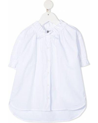 Хлопковая белая рубашка с короткими рукавами Il Gufo