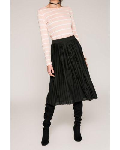 Плиссированная юбка с поясом черная Haily's