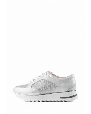 Кожаные кроссовки - серебряные Stefano Lompas