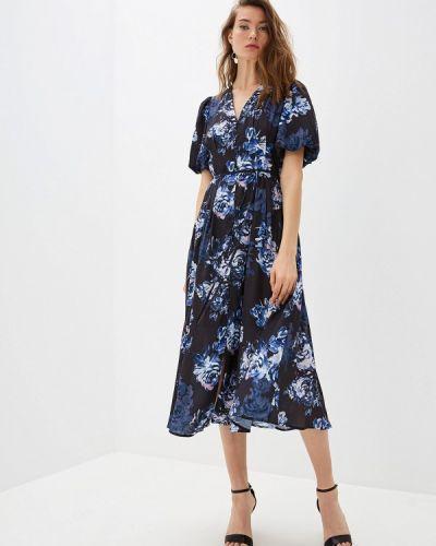 Повседневное платье осеннее синее French Connection