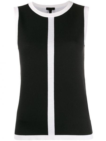 Черное с заниженной талией платье миди без рукавов с вырезом Escada