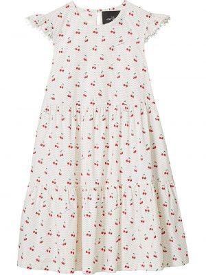 Хлопковое белое платье без рукавов Marc Jacobs