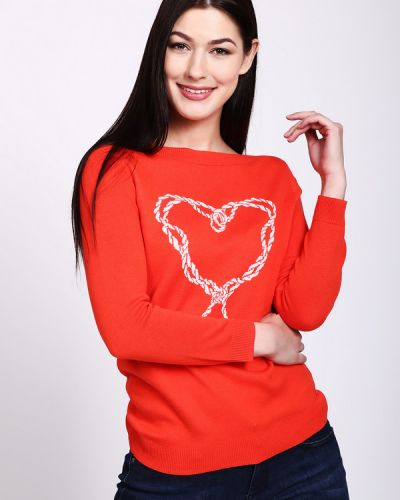 Оранжевый пуловер Tom Tailor