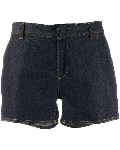 Джинсовые шорты облегающие с заниженной талией Dsquared2