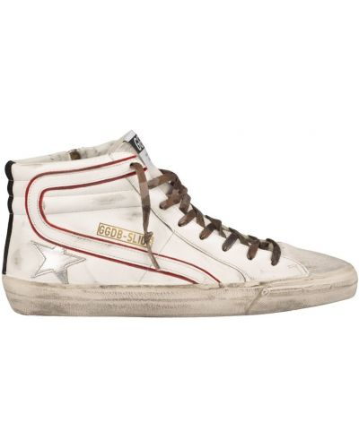 Białe sneakersy srebrne Golden Goose