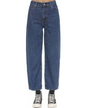 Синие пляжные джинсы с высокой посадкой с карманами с заплатками Levi's Red Tab