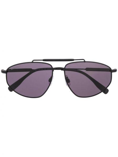 Черные солнцезащитные очки квадратные металлические с завязками Dsquared2 Eyewear