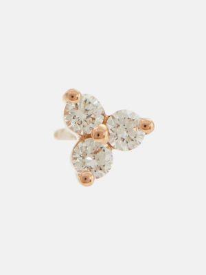 Różowe złote kolczyki ze złota z diamentem Maria Tash