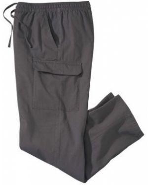 Хлопковые серые брюки карго с карманами для беременных Atlas For Men
